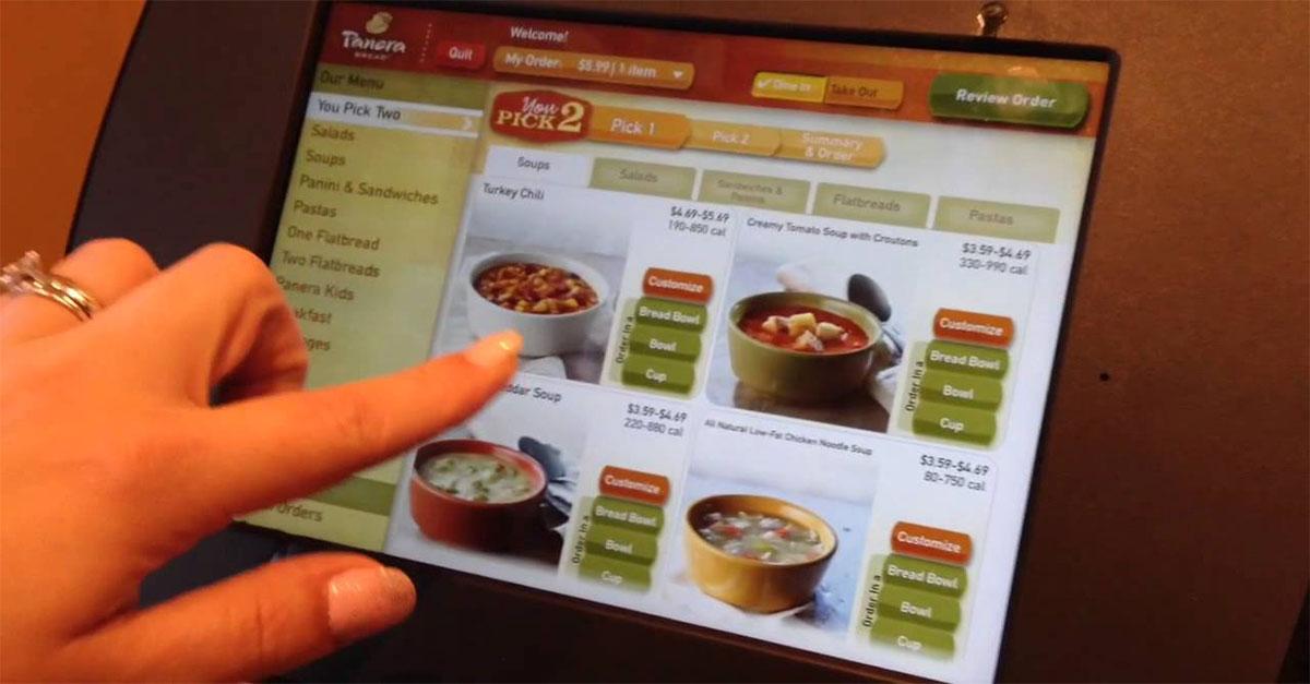 کیوسک سفارش گیر غذا یا سلف اردر Self Order کیوسک سفارش غذا