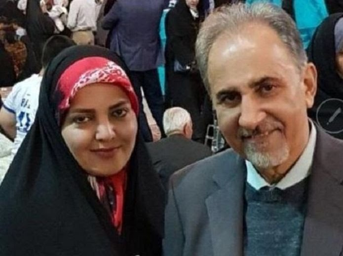 محمدعلی نجفی شهردار سابق تهران و همسرش