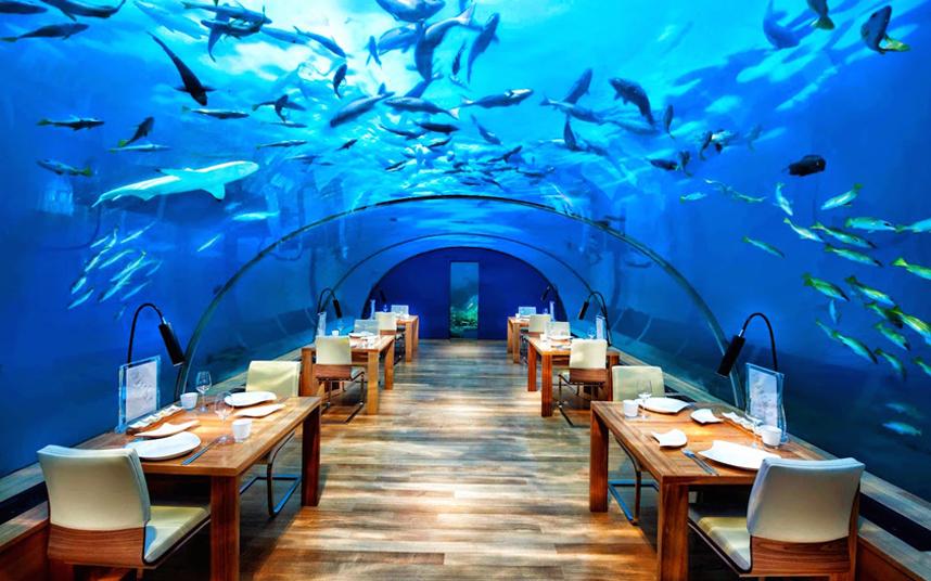 رستوران در ریر آب